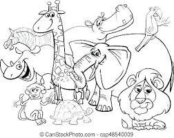 Safari Coloring Pages Free Printable Coloring Pages Safari Animals