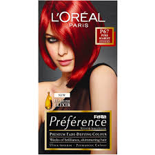 Loreal Intense Red Hair Color Image Collections Hair Coloring Ideas