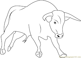 Small Picture Strong Bull Coloring Page Free Bull Coloring Pages