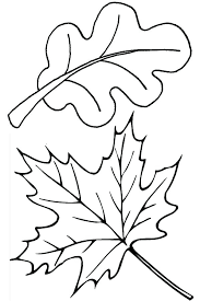 Printable Leaf Coloring Pages Fall Leaves Page Disney