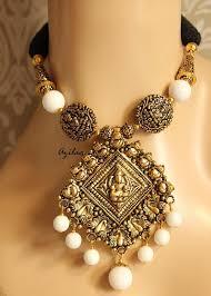 antique gold plated pendant necklace set laxmi pendant necklace at 2950 azilaa