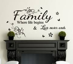 family inspirational wall art quotes vinyl wall sticker wall decal high quality ebay on wall art stickers quotes ebay with family inspirational wall art quotes vinyl wall sticker wall decal