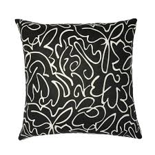 black  white paisley pillow  janet kain for the home