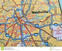 map of nashville tennessee stock image image of capital