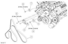 ford f f how to replace idler and tension pulleys ford engine belt and pulley diagrams for the f 150