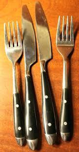 wood handle flatware black handle flatware vintage flatware with black wood handle and two by wooden wood handle flatware