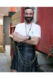 casual leather kilt for y men