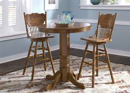 stylish 42 pub table and chairs nostalgia round pub table 3 piece dining set with 30