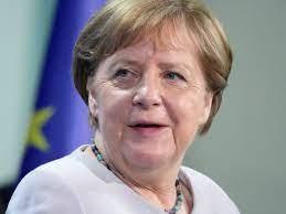 German Chancellor Angela Merkel gets ...