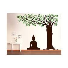 buddha under tree wall decal