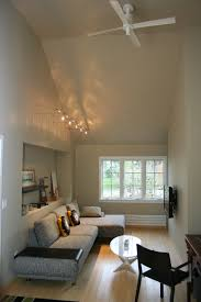 Vaulted ceiling lighting Office Brown Loveseats With Decorative Pillow And Window Treatment Plus Pendant Lights On Vaulted Ceiling Lighting For Craftbeerstorelbcom Lighting Beautify The Room In Your House With Vaulted Ceiling