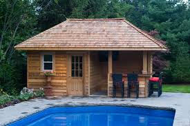 backyard pool houses and cabanas pool sheds and cabanas oakville by shademaster landscaping