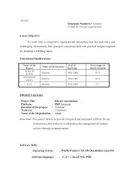 Resume For Freshers Amazing Objective In Resume For Freshers Arzamas