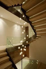 Home Interior:Elegant Modern Interior Decor With Hanging Stair Way Lighting  Elegant Modern Interior Decor