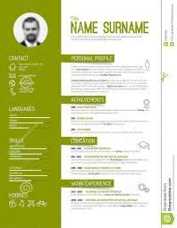 curriculum vitae layout template