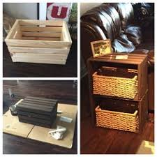 diy crate furniture. exellent crate end table made from home depot wine crates good idea for maybe bathroom  storage not loving side table to diy crate furniture