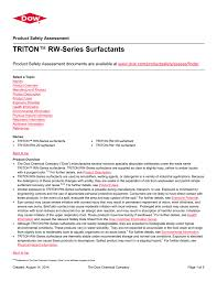 Triton Rw Series Surfactants