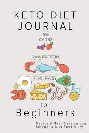 Meal Tracking Keto Diet Journal For Beginners Macros Meal Tracking Log
