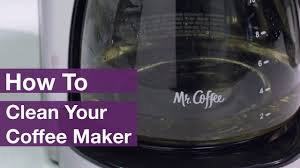 how to clean mr coffee coffee makers