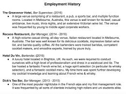 How To Write An Irresistible Bartender Resume Crafty