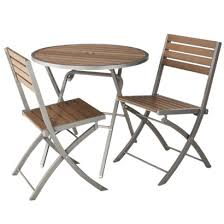 Threshold™ Bryant 3 Piece Faux Wood Patio Bistro Furniture Set