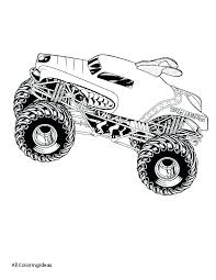 Coloring Pages Monster Truck Trucks Coloring Page Monster Truck