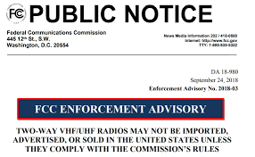 Fcc amateur radio enforcement