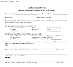 Sample Medical Records Release Form Records Release Form Template Medical Forms Free Dental