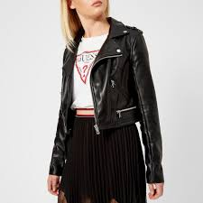 guess women s layla jacket jet black image 1