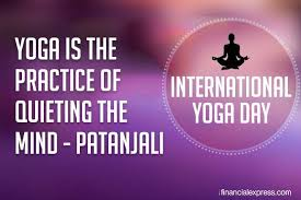 yoga is a method for res the natural turbulence of thoughts which otherwise impartially prevent all men of all lands from glimpsing their true