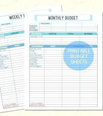 Personal Weekly Budget Templates Free Personal Budget Template Download