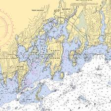 Connecticut Mystic Mystic Harbor Nautical Chart Decor