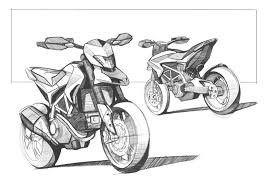 Sketch Of The New Ducati Hypermotard