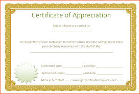 Word Template Certificate Of Appreciation - April.onthemarch.co