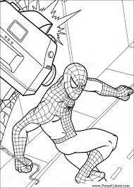 Tekeningen Te Schilderen Kleur Spiderman Print Design 003
