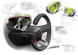 Chevrolet Spark Interior Design Sketch - Car Body Design