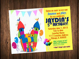 bounce house invitation bounce house birthday invitations bounce house birthday invitations kid s outdoor indoor playground party printable 128270zoom
