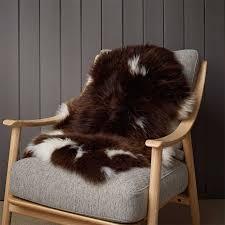 small white and brown jacob sheepskin