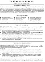 Real Estate Resume Adorable Real Estate Developer Resume Sample Template