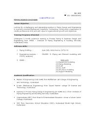 Piping Field Engineer Sample Resume Resume Cv Cover Letter