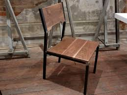 industrial steel furniture. industrial steel and walnut wood chair furniture n