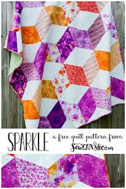 sparkle quilt free pattern for a gorgeous zig zag quilt