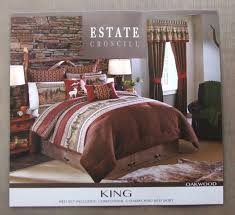 brand new croscill oakwood king size comforter 4 piece set nature theme