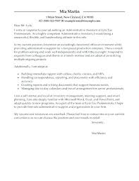 Administrative Professional Cover Letter Admin Assistant Cover ...