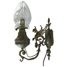 sconces oil lamp sconce antique gargoyle sconce oil lamp with crystal globe circa electric oil