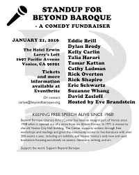 Beyond Baroque Literary/ Arts Center: Join us! COMEDY FUNDRAISER for BEYOND  BAROQUE on Thursday, 21 January 2016 at 7 PM