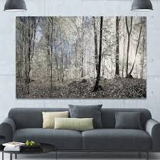 >shop designart dark morning in forest panorama landscape large  designart x27 dark morning in forest panorama x27 landscape large canvas
