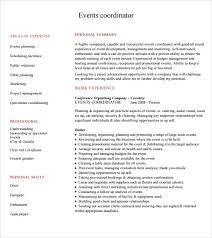 40 Sample Event Planner Resumes Sample Templates Awesome Resume Event Planning