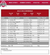 2013 2014 Ohio State Football Schedule Ohio State Football
