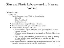 Calibration Of Glassware